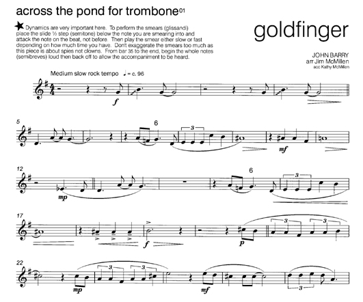 Contemporary Brass Across The Pond For Trombone 02 Bass Clef