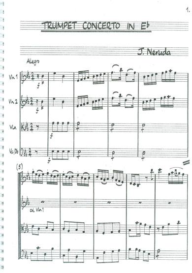 Neruda Trumpet Concerto Score